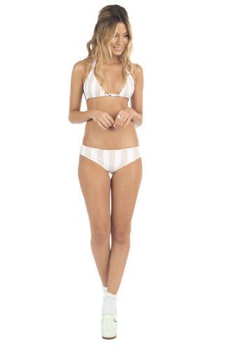swimwear bikini bottoms cheeky floral pink print reversible bikiniluxe