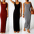 Womens Casual Sleeveless Long Maxi Dress Holiday Vest Dress Size 8 10 12 14 16 | eBay