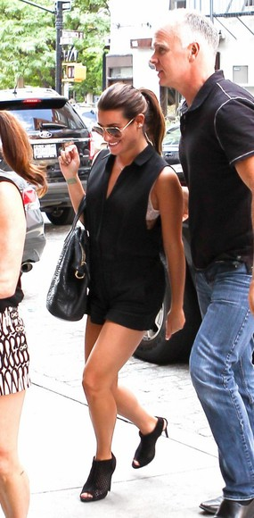 shoes sandals romper lea michele