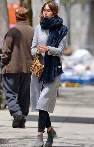 coat alexa chung pants scarf