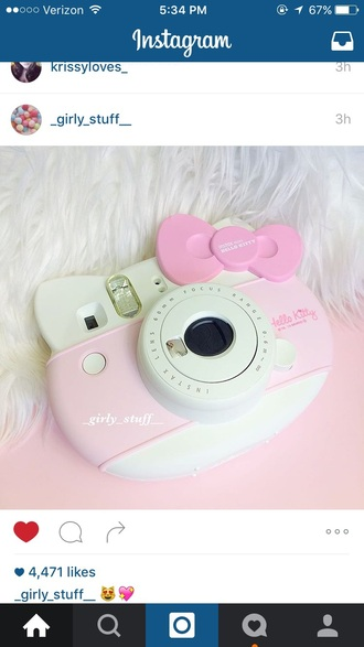 home accessory hello kitty camera polaroid camera nastygal