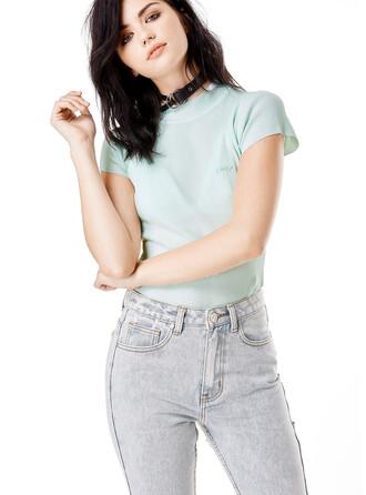 shirt pastel goth unif pastel mint grunge kawaii