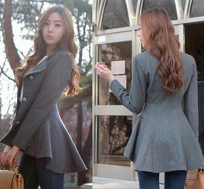 Fashion hot irregular coat