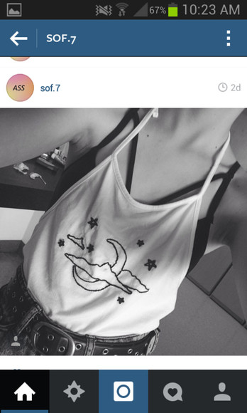 tank top moon stars clouds