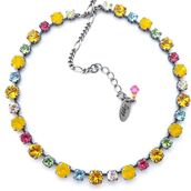 jewels,necklace,yellow,colorful,multicolor,jewelry,summer accessories,gift ideas,etsy