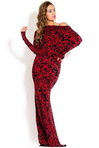 dress paisley formal dolman gown classy fashion