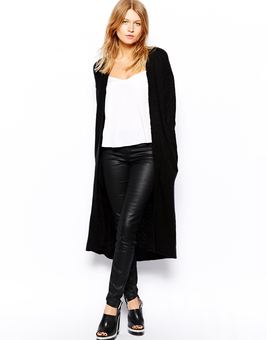 ASOS Fluffy Cardigan In Longline Length at asos.com