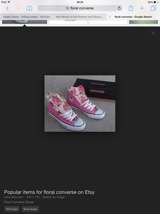 shoes converse shoes trainers girls sneakers floral shoes flower printed