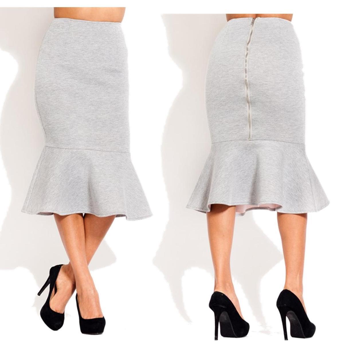 Ruffle bottom midi skirt · trendyish · online store powered by storenvy