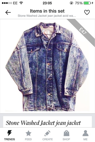 jacket denim oversized light wash vintage