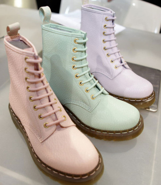 Shoes: pink shoes, green shoes, purple shoes, boots, pastel, pink ...