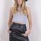Black mini leatherette skirt