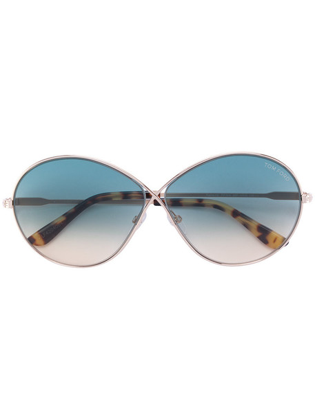 Tom Ford Eyewear - Rania-02 sunglasses - women - metal/Acetate - 64, Blue, metal/Acetate