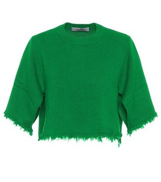 sweater cropped green