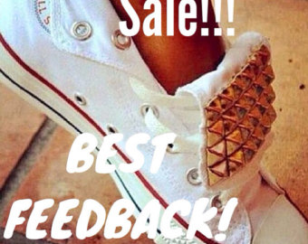 Lovechucktaylors custom spiked and studded by lovechucktaylors