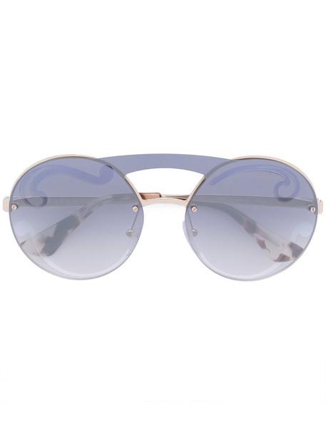 oversized metal women sunglasses nude