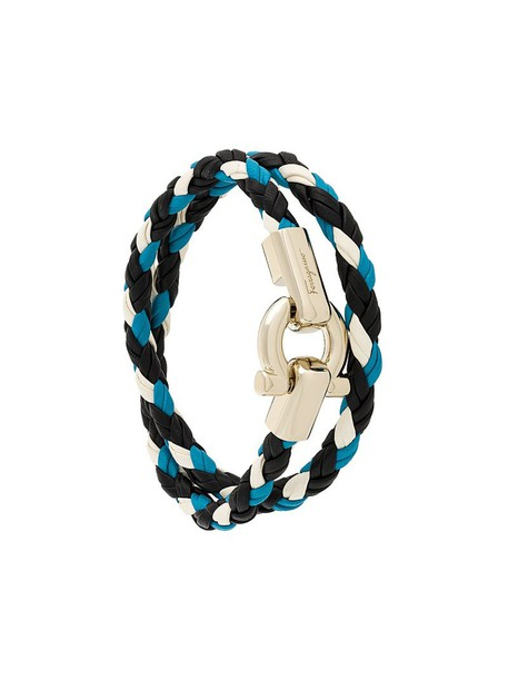 Salvatore Ferragamo braided bracelet women braided leather jewels