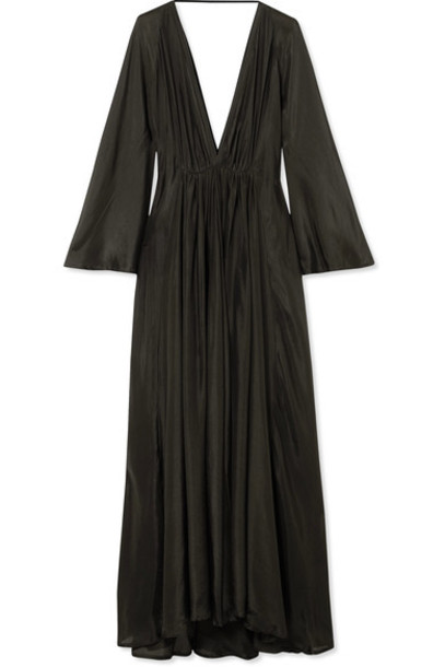 KALITA dress maxi dress maxi dark silk green