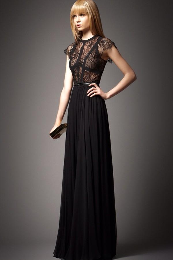 dress black dress lace top