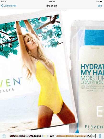 swimwear yellow eleven