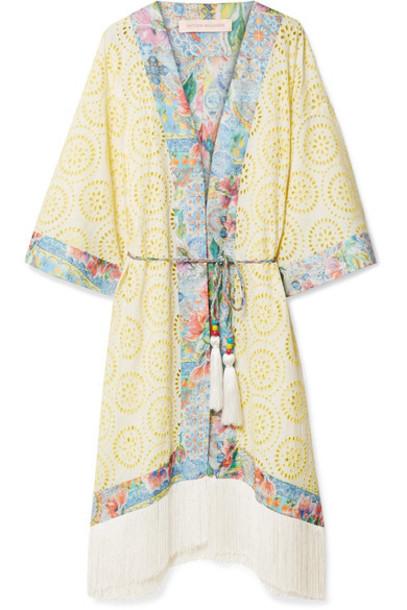 Matthew Williamson kimono pastel yellow pastel yellow top