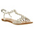 Jeffrey Campbell Puffer Pearls Clear Natural Pearls - Sandals