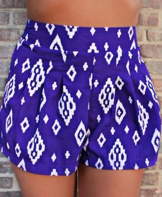 blue shorts aztec