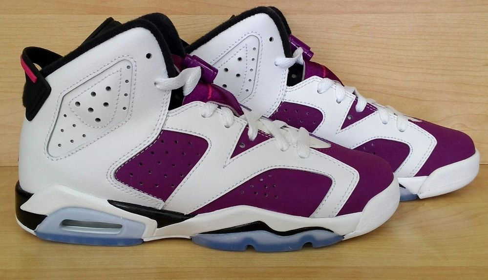 promo code 90095 a3f3d Nike Air Jordan 6 VI Retro Bright Grape Sz 4C-7y GS PS Kids Purple Black  Carmine