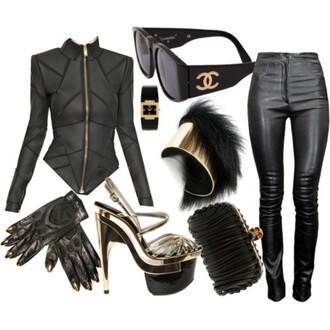 jacket leather jacket leather trendy black batman sculpted badass rock chic edgy sunglasses jewels