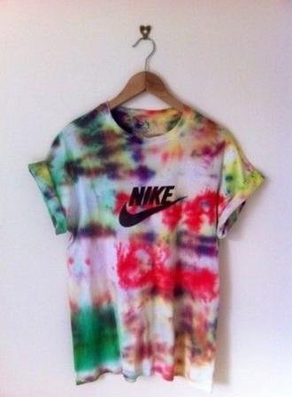 shirt nike tie dye tie dye shirt tshirt.