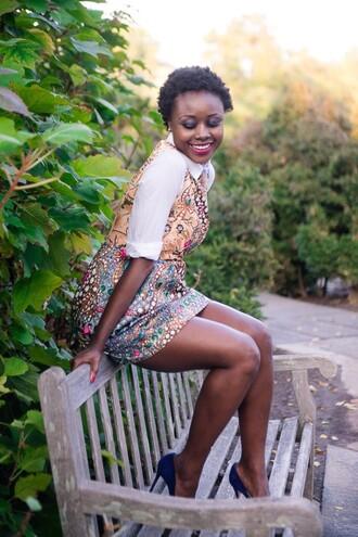 skinny hipster blogger printed dress