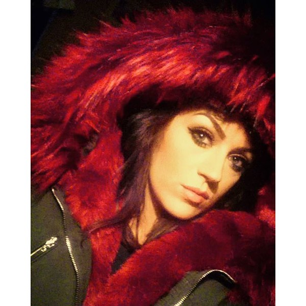 Coat: one nation clothing, parka, red fur, parka fur hood, fur ...