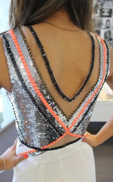 top girl dress clothes glitter dress fashion orange lovely