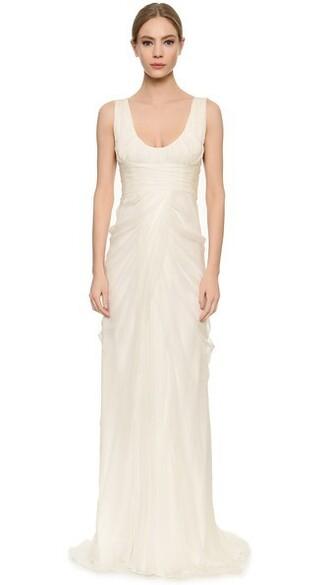 gown light draped dress