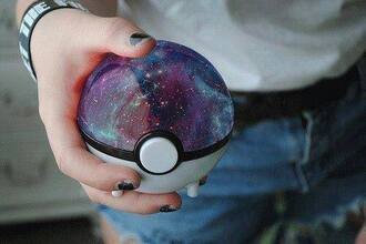 bag cute kawaii pokemon pokeball galaxy print aww fabulous