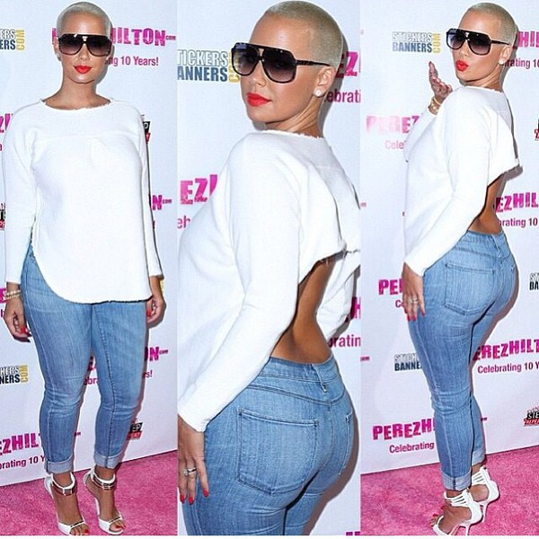 top amber rose openback top
