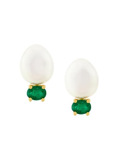 Wouters & Hendrix Gold women pearl earrings gold jewels
