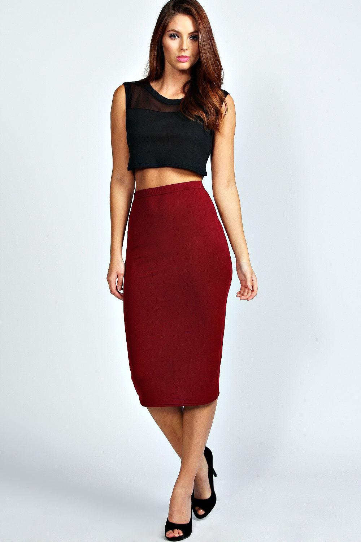 Midi Jersey Tube Skirt