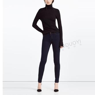 jeans pants women pants navy skinny dark blue jeans