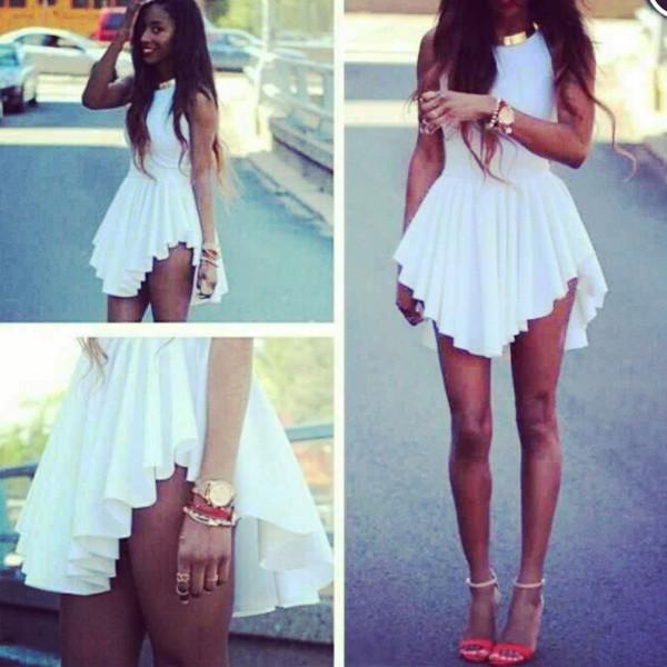 dress white dress elegant classy