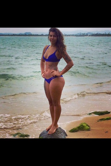swimwear blue bikini