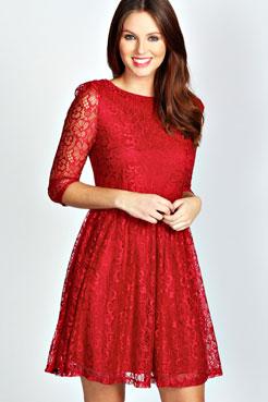 Marissa Lace Smock Dress at boohoo.com