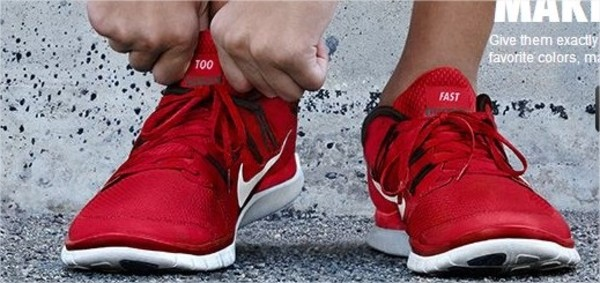 shoes nike red black white run running shoes