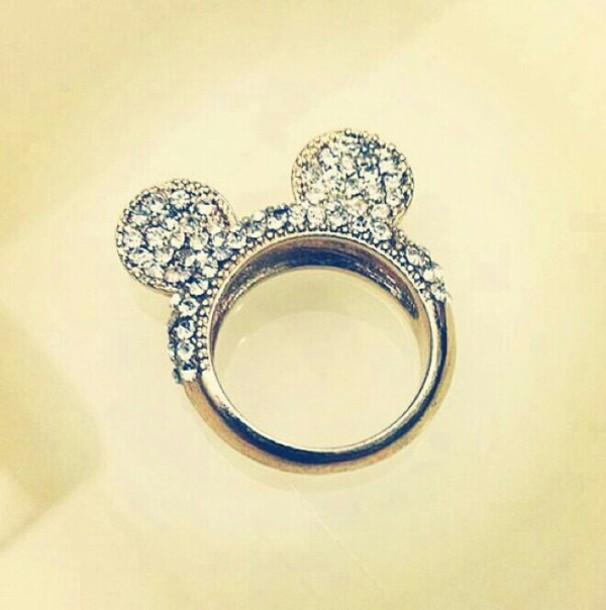 jewels cute little mickey mouse ring diamonds