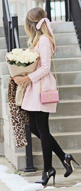dress classy baby pink romantic jacket soft long coat coat girly pink coat fashion style feminine bubblegum pink pink bell shape coat winter coat pastel pink