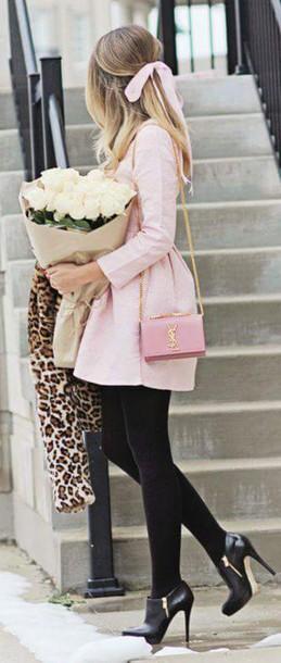 dress classy baby pink romantic