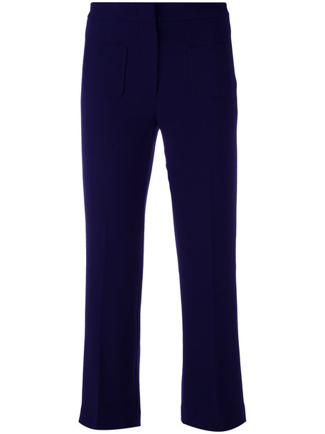 L'Autre Chose cropped women blue pants