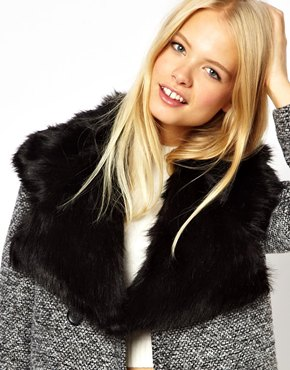 ASOS | ASOS Faux Fur Lapel Collar at ASOS
