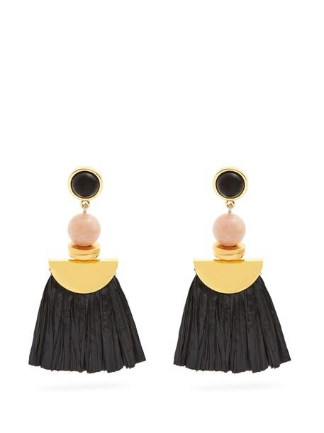 Lizzie Fortunato earrings black jewels