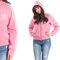 Pink adidas womens hoodie 90s hooded track suit vintage zip up trefoil 3 white stripes sport women hipster cotton sweatshirt zippered medium